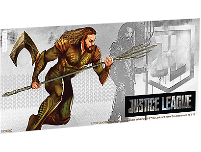 Justice League Series - Aquaman™ 5g Silver Coin Note