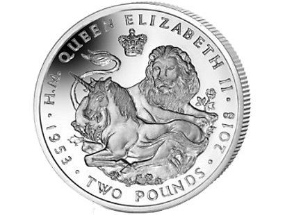 The Lion & The Unicorn 2018 Cupro-Nickel Uncirculated £2 Coin