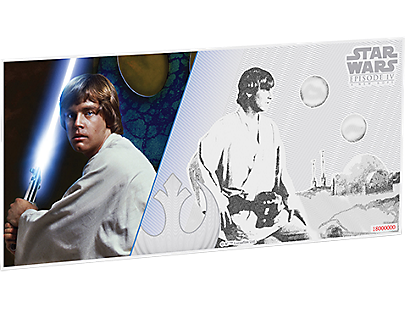 Star Wars: A New Hope - Luke Skywalker 5g Silver Coin Note PLUS Collector's Album