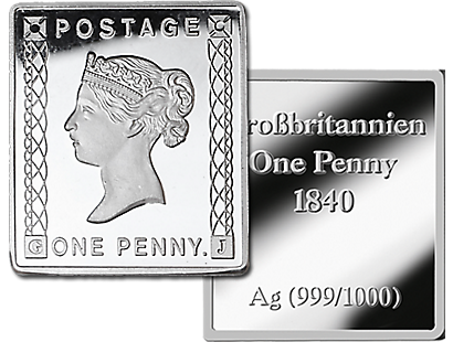 Penny Black 1840 Pure Silver Limited Edition 6g Stamp