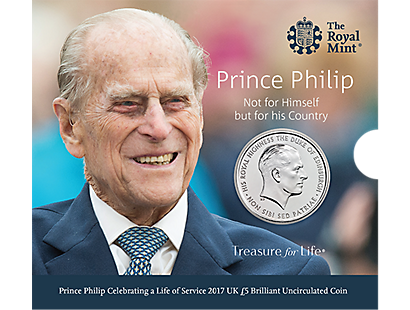 Prince Philip: Celebrating a Life of Service 2017 £5 Brilliant Uncirculated Coin
