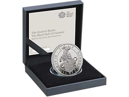 The Queen's Beasts - The Black Bull of Clarence 2018 £2 1oz Silver Proof Coin