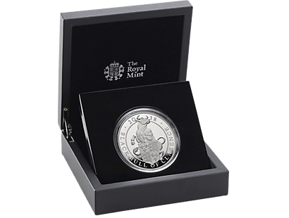 The Queen's Beasts - The Black Bull of Clarence 2018 £10 5oz Silver Proof Coin
