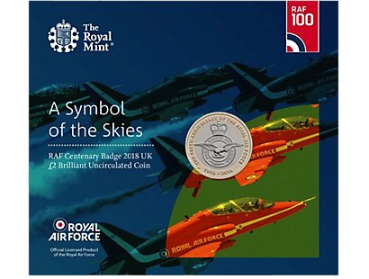 RAF Centenary Badge 2018 £2 Brilliant Uncirculated Coin