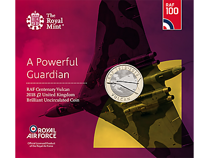RAF Vulcan 2018 £2 Brilliant Uncirculated Coin