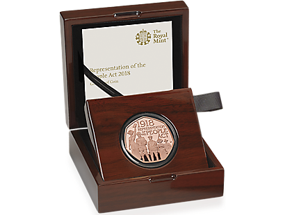 The 100th Anniversary of the Representation of the People Act 2018 Gold Proof 50p Coin