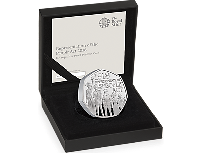 The 100th Anniversary of the Representation of the People Act 2018 Silver Piedfort Proof 50p Coin