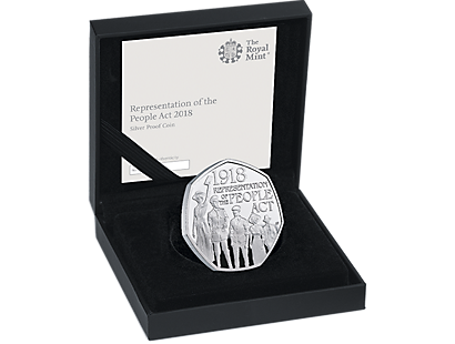 The 100th Anniversary of the Representation of the People Act 2018 Silver Proof 50p Coin
