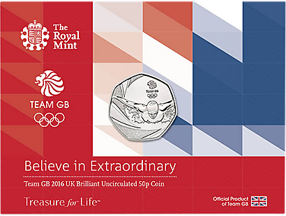 Team GB 2016 Brilliant Uncirculated 50p Coin