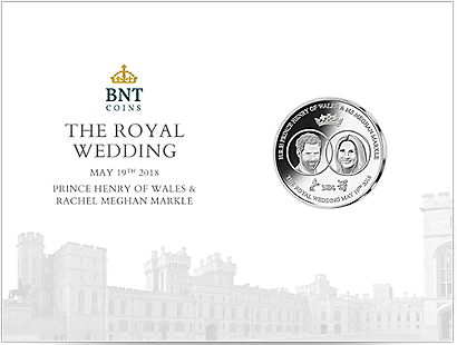 Royal Wedding 2018 Silver-Plated Commemorative Coin