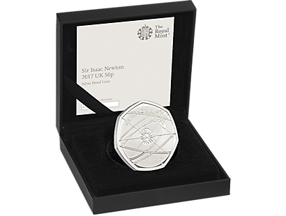 Sir Isaac Newton 2017 United Kingdom 50p Silver Proof Coin
