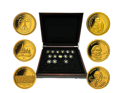 Smallest 24k Gold Coins Collection Celebrates History, Culture & Icons of the Past