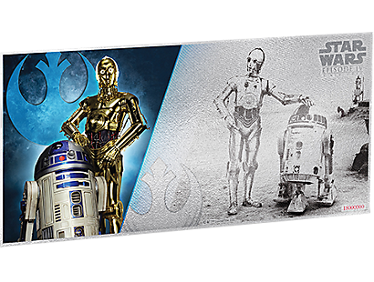 Star Wars: A New Hope - R2-D2 & C-3PO 5g Silver Coin Note