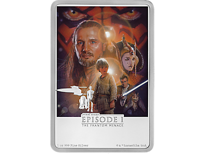 Star Wars - The Phantom Menace 1oz Silver Coin