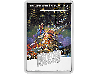 Star Wars - The Empire Strikes Back 1oz Silver Coin