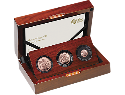 The Royal Mint's Sovereign 2018 Three-Coin Set