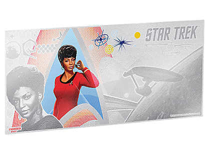 Star Trek Original Series – Lieutenant Uhura Silver Coin Note