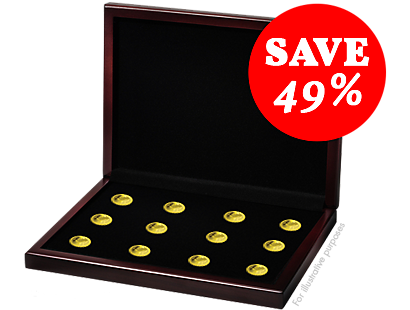 Smallest 14-Karat Gold Coins Collection 2017