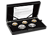The Royal Mint 2018 Silver Proof Piedfort Coin Set