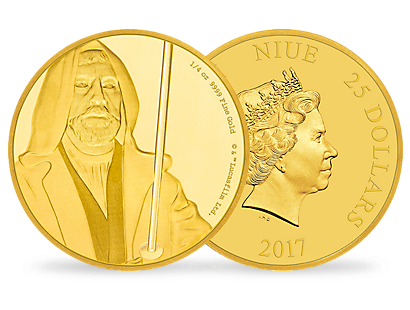 Star Wars Classic - Obi Wan Kenobi 1/4 oz Gold Coin