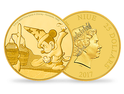 Mickey Through the Ages – Fantasia 1/4 oz Gold Coin