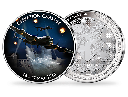 Operation Chastise 16-17 May 1943 Silver Plated Commemorative