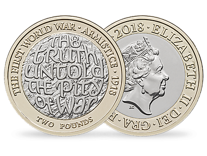 100th Anniversary of the First World War Armistice 2018 Brilliant Uncirculated £2 Coin