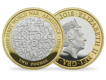 100th Anniversary of the First World War Armistice 2018 Silver Proof Piedfort £2 Coin
