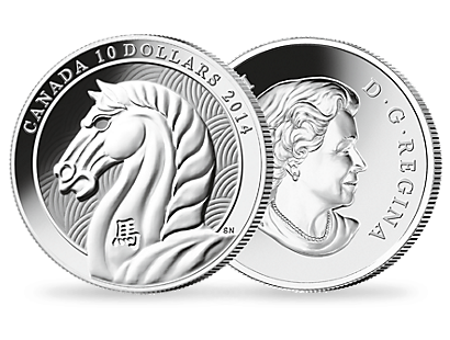 Chinese New Year 2014 - Year of the Horse 1/2 oz. Fine Silver Coin