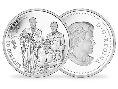 Royal Generations 2014 $20 1 oz. Fine Silver Coin