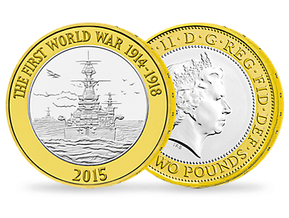 The Royal Navy 2015 £2 Brilliant Uncirculated Coin
