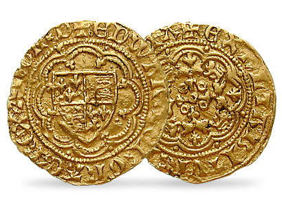 England 1/4 Noble 1346-1377 Edward III.