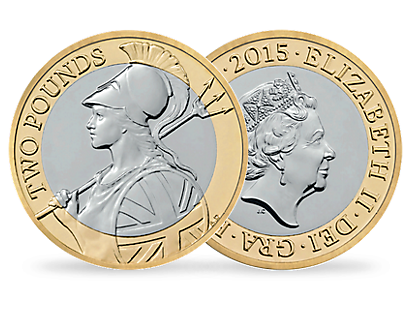 'The Definitive Britannia 2015' £2 Brilliant Uncirculated Coin