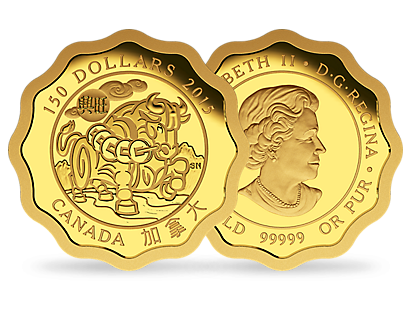 $150 Pure Gold Coin – Blessings of Prosperity