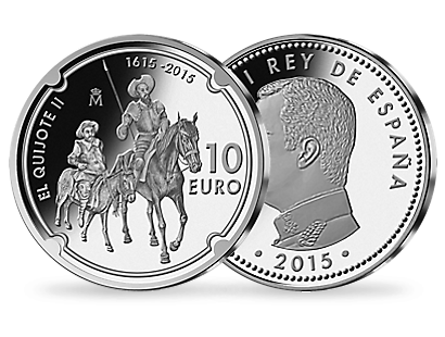 Don Quixote 2015 €10 Silver Coin