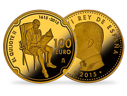Don Quixote 2015 €100 Gold Coin