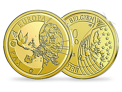 Peace in Europe 2015 €50 Euro Gold Coin