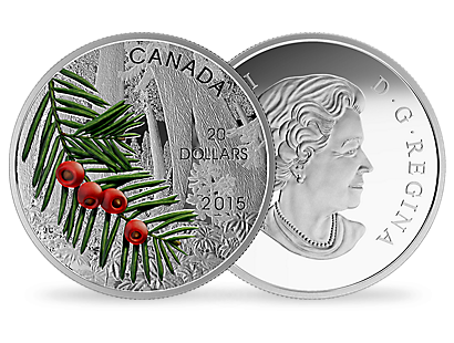 1 oz. Fine Silver Coin - Forests of Canada series - Columbian Yew Tree