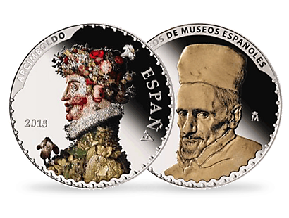 "50 Euros Silver Spain 2015 Arcimboldo and Velazquez"" """