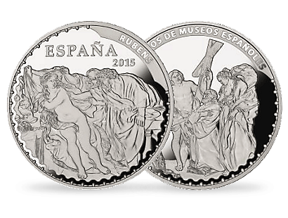 Treasures of Spanish Museums - Susanna and the Elders by Rubens €10 Silver Coin