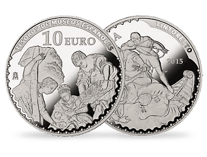 10 Euro silver 2015 Spain Tintoretto