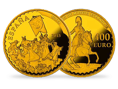 Treasures of Spanish Museums - The Burial of the Sardine by Goya €400 Gold Proof Coin
