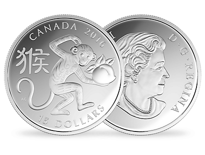 1 oz. Fine Silver Coin – Year of the Monkey