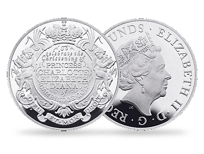 'The Christening of the Princess 2015' £5 Silver Coin