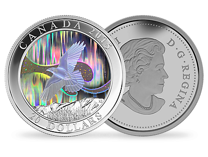 1 oz. Fine Silver Hologram Coin – A Story of the Northern Lights: The Raven