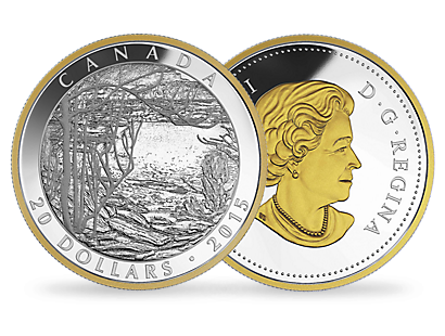 1 oz. Fine Silver Gold-Plated Coin – Tom Thomson: Spring Ice