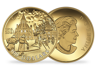 14-karat Gold Coin – Centennial of the Parliament Buildings Fire