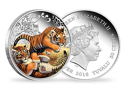 The Cubs – Tiger 2016 1/2oz Silver Proof Coin