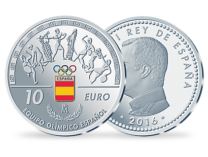 10 Euro silver Spain Olympic Team in 2016