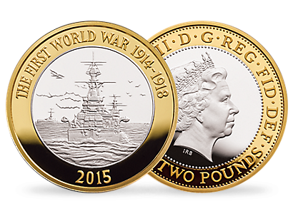 'The Royal Navy 2015' £2 Gilded Proof Silver Coin